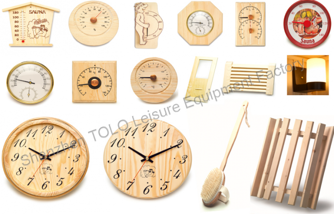 Hemlock Wooden Clock for Sauna Room