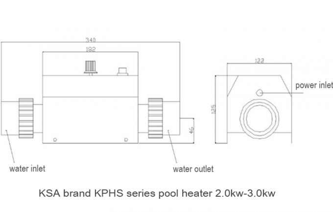 220V Electric Swimming Pool Heater