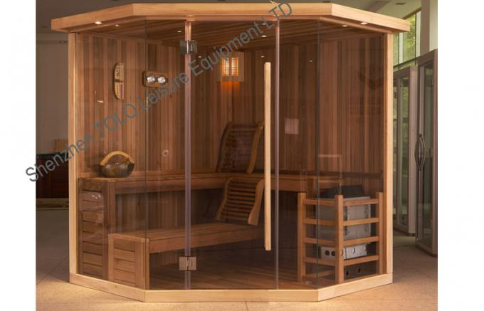 Polygon Cedar Traditional Sauna Indoor For 3 Person - 6 Person