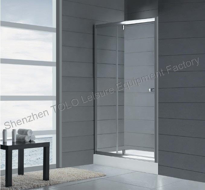 Rotating Shower Screen Glass Enclosed Showers , Sliding Square Single Hinge Door