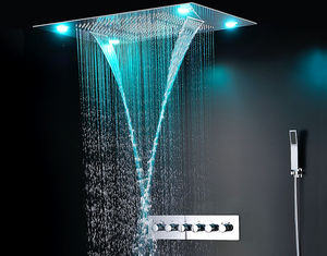 China Ceiling Mounted LED Rain Showers Heads , Bathroom Water Saving Shower Head supplier