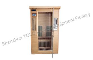 China 1 Person Far Infrared Dry Heat Sauna Canadian Cedar With Dual Control Panel supplier