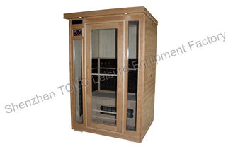 China Canadian Hemlock Outdoor Far Infrared Sauna Cabin 1.75KW Toughened Glass supplier
