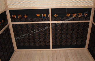 China Outdoor Far Infrared Sauna Cabin Room , Wood 2 Person Infrared Sauna supplier