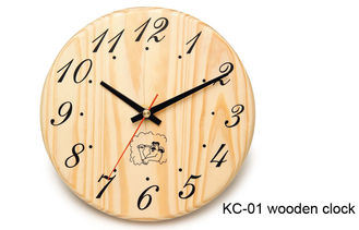 China Hemlock Wooden Clock for Sauna Room supplier