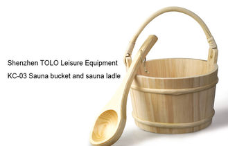 China Wood sauna bucket and ladle supplier