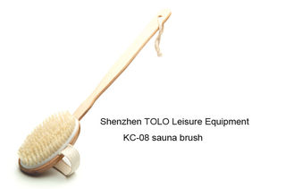 China Sauna Brushes Wooden Handle supplier