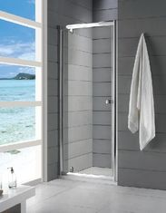 China 6mm Tempered Glass Fully Enclosed Shower Cubicle Frameless Sliding 800 × 1850mm supplier
