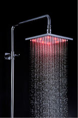 China Modern Stainless Steel Shower Head LED Light 200 x 200 x 10.5mm supplier