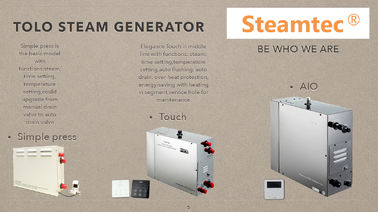 China 15kw 400V Stainless Steel Sauna Steam Generator With Electronic Thermostat distributor