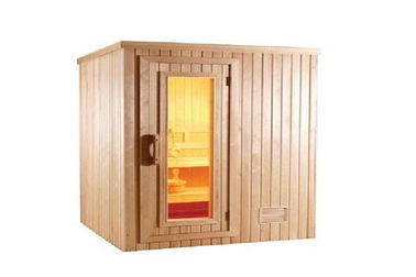 China Customized Traditional Sauna Cabins , Commercial Square Cedar Sauna distributor
