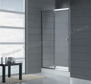 China Rotating Shower Screen Glass Enclosed Showers , Sliding Square Single Hinge Door distributor